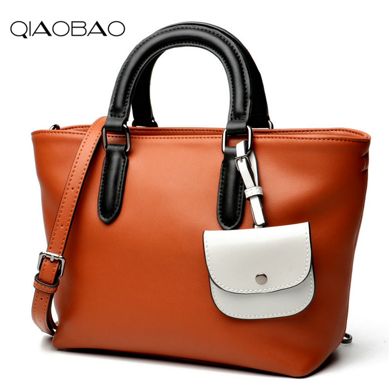 QIAOBAO Brand Women 100% Genuine Leather Handbags Ladies Large Tote Bag Female Designer Shoulder Bag Bolsas Femininas Sac A Main qiaobao 100% genuine leather handbags new network of red explosion ladle ladies bag fashion trend ladies bag