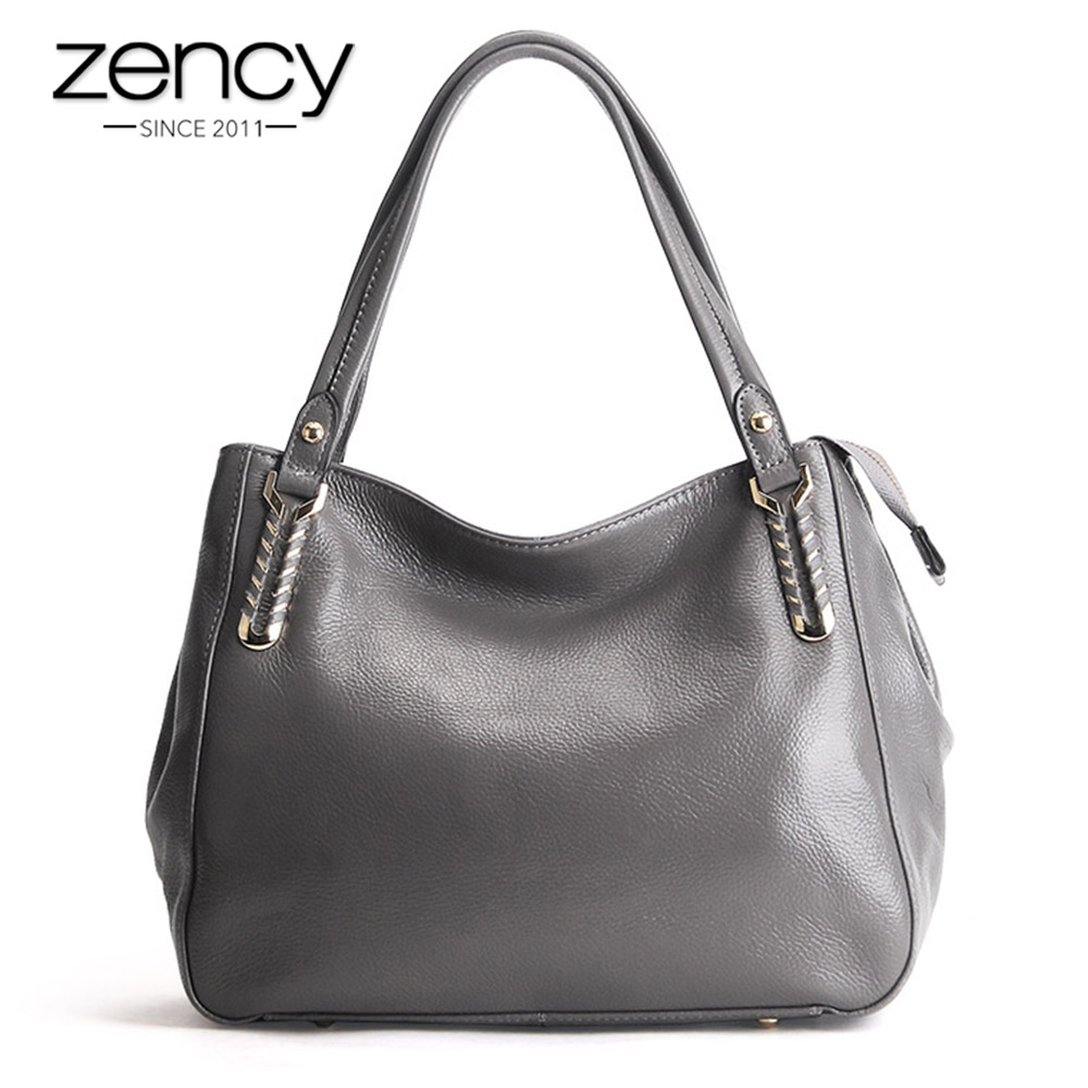 Zency 100 Genuine Leather Quality A Women Shoulder Bag Fashion Handbag Lady Casual Tote Hobos Female