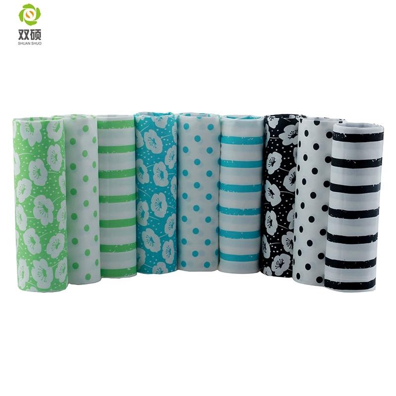 DIY paket sveženj bombažne tkanine maščobe lopatice Šivanje tkanin oblačila za lutke Tilda odeja Tkanina 9 PCS / LOT 40 * 50CM