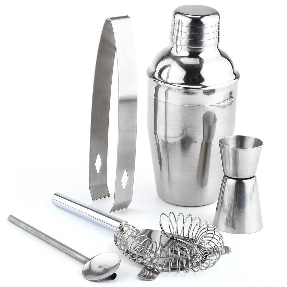 new cocktail shakers sets 5 pcs stainless steel cocktail shaker wine mixer drink bartender kit. Black Bedroom Furniture Sets. Home Design Ideas