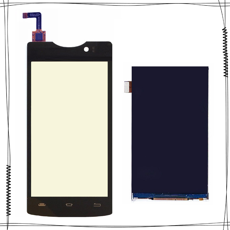 4.5  Touchscreen+ LCD Display For Micromax D320 D 320 Front Glass Capacitive Sensor For Micromax D320 D 320 Touch Screen Panel