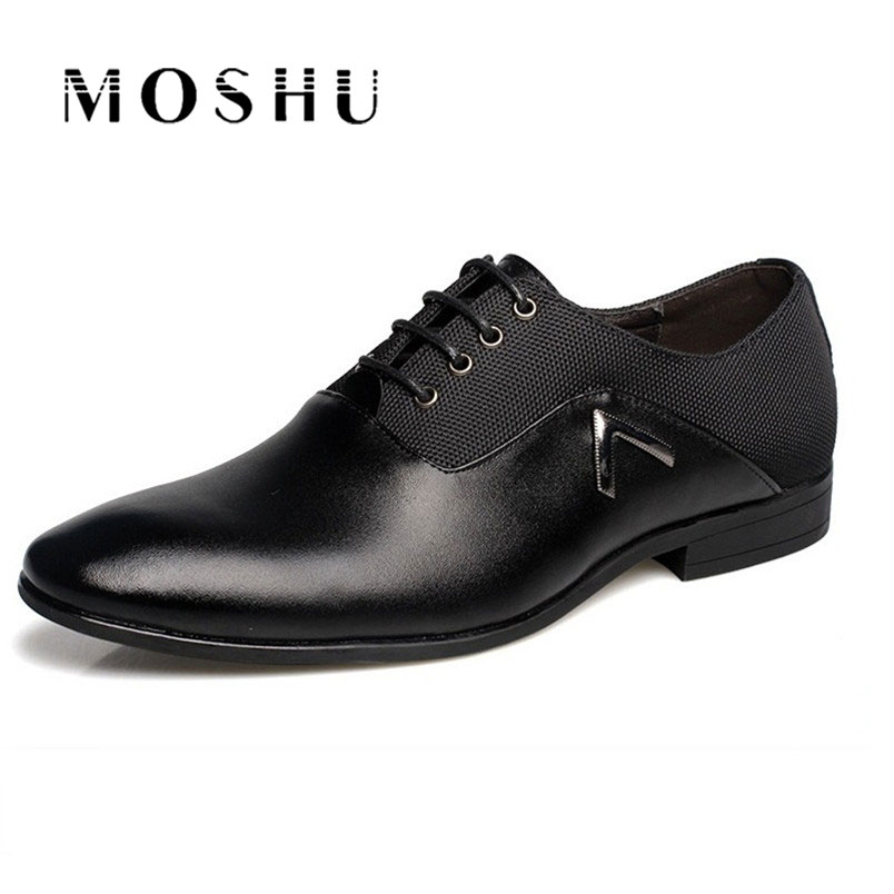 Fashion Men Shoes Leather Flatsluxury Classic Bullock Oxford Zapatos Hombre Size39-47