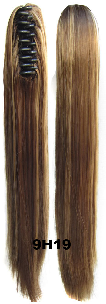 10pc lots New Hair Extension Women Sexy Long straight Claw Ponytails fashion Pony Tail Hair Piece