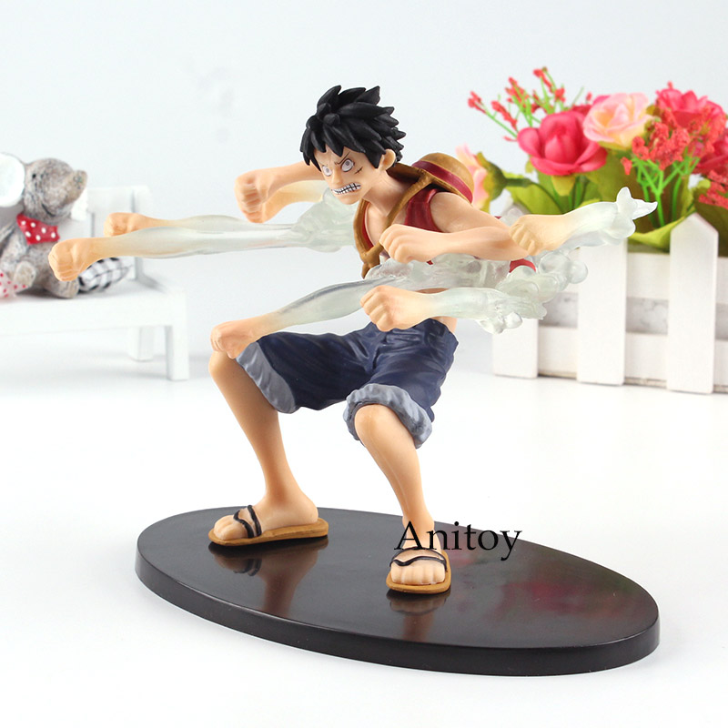 One Piece Figure One Piece Anime Monkey D Luffy Action Figure Fist Jet Kids Toy 13.5cm s ...