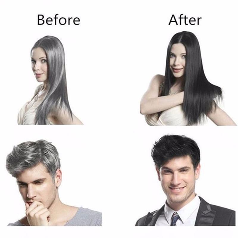 10PCS Box Herb Natural Safe Black Hair Dye Cream White Become Black Hair Fast Black Hair Shampoo in Hair Color from Beauty Health