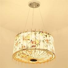Japanese Tatami Wooden LED Chandelier Fabric Lamp Hade Bedroom Living Room Study Pendant Lighting Furniture Decorative