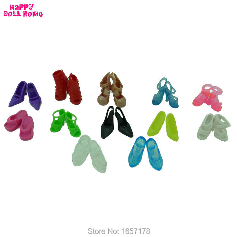 12-Pairs-Mixed-Fashion-Colorful-High-Heels-Sandals-Accessories-For-Barbie-Doll-Shoes-Clothes-Dress-Prop-Girl-Baby-Best-Gift-Toys-2
