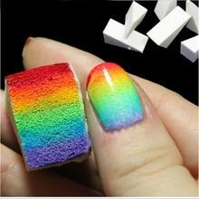 New Nail Art Soft Sponge DIY Tool Gradient Nails Sponge for Color Fade Manicure 10pcs/lot DIY Creative Nail Accessories Supply стоимость