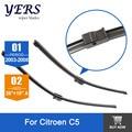 """Limpiaparabrisas cuchillas para Citroen C5 (2003-2008) 26 """"+ 19"""" Un ajuste lateral tipo pin brazos del limpiaparabrisas sólo HY-006B"""