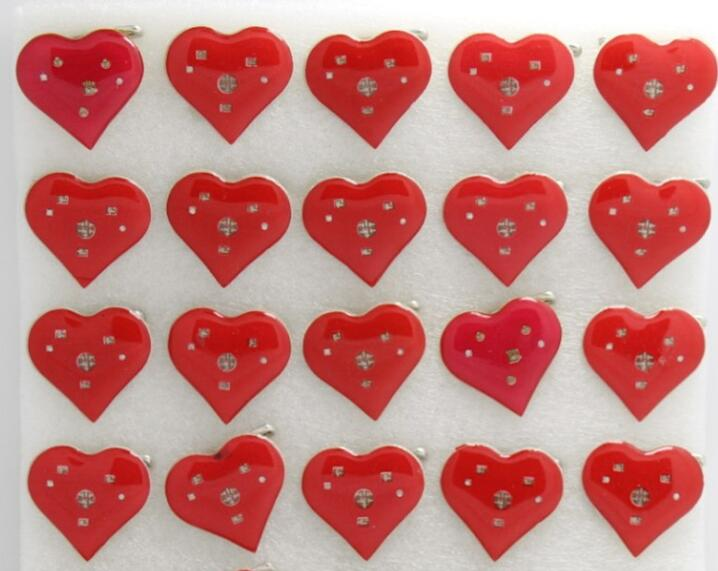 Provided New 25pcs/set Popular Red Love Heart Led Brooch Button Pin Happy Birthday Wedding Party Favors Diy Kids Gift Jewelry Sets & More