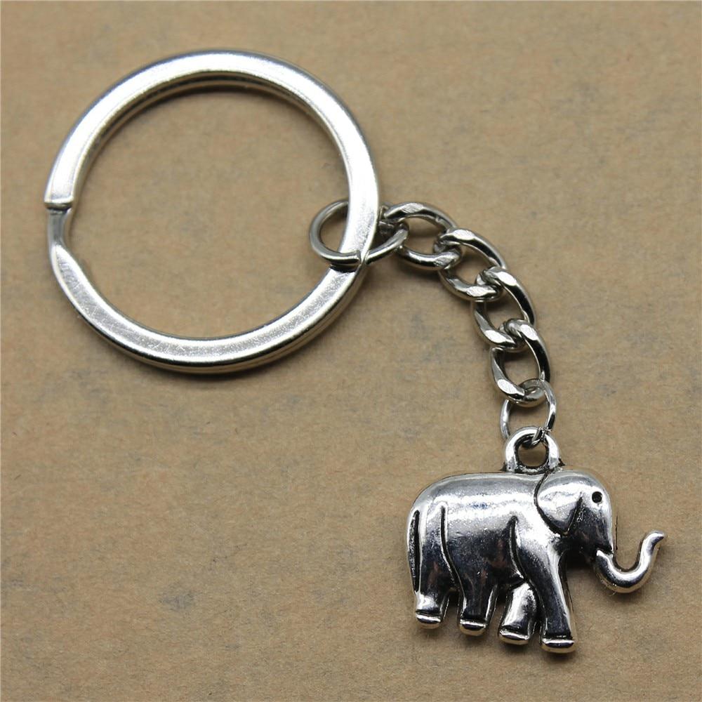 1 Stück Motor Keychain Elefanten Hochzeit Geschenke Für Gäste Souvenirs 21x18x5mm Anhänger Antike Silber