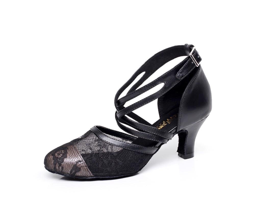 Woman Latin Ballroom Dance Shoes Salsa Social Party Shoes High Heel 6cm Female Modern Tango Dance Shoes Soft Sole 1690