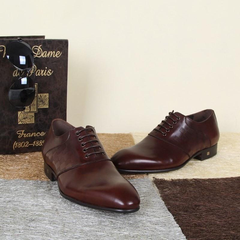 17a70450ed3e95 Marque de luxe Mens robe italienne chaussures Sapatos Femininos hommes  classique chaussures Zapatos Mujer haute qualité en cuir hommes d'affaires  chaussures ...
