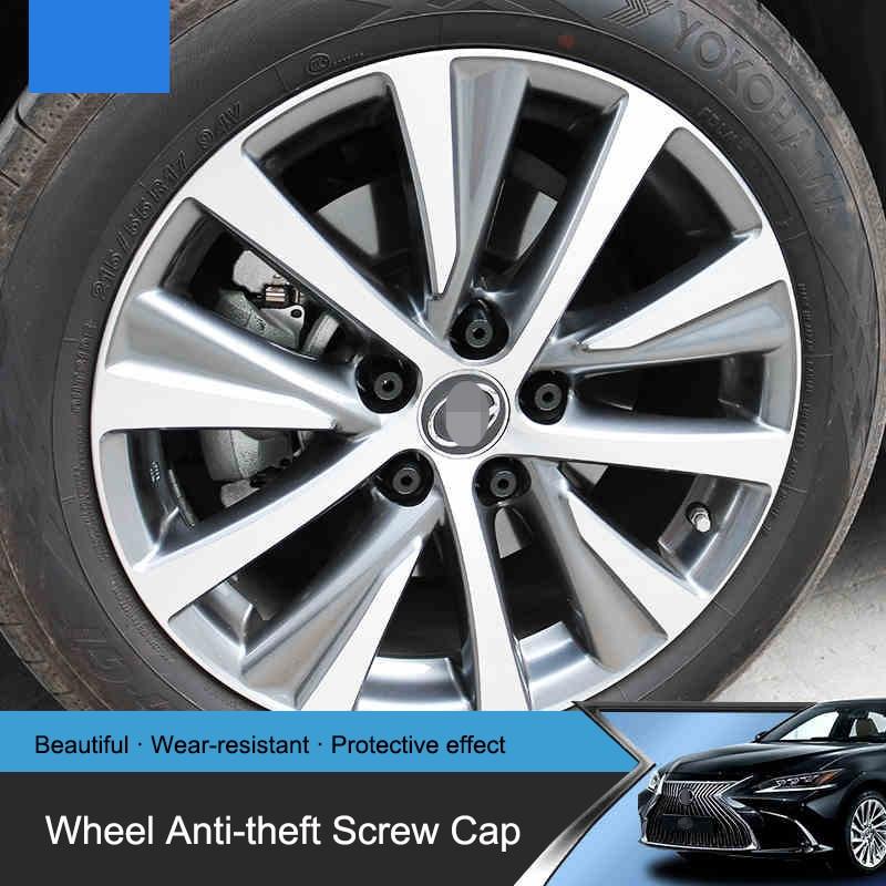 QHCP автомобильные колеса противоугонные винтовая крышка шин клапан шток болт протектор аксессуар PP материал 20 шт./компл. для Lexus ES200 260 300H 2018