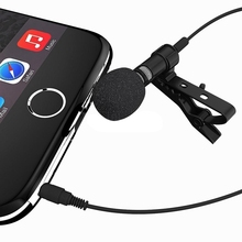 MAYITR Microphone Lavalier Lapel Clip-on Omnidirectional Condenser Wired Mic for iPhone Smart Phone Laptop Computer
