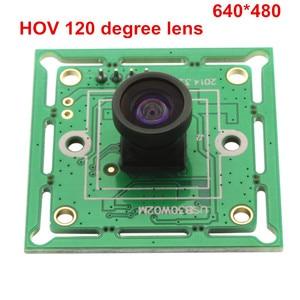 Image 4 - ELP 300K פיקסלים VGA USB2.0 OmniVision OV7725 צבע CMOS חיישן 60fps USB מצלמה מודול עם רחב זווית 120 תואר m7 עדשה