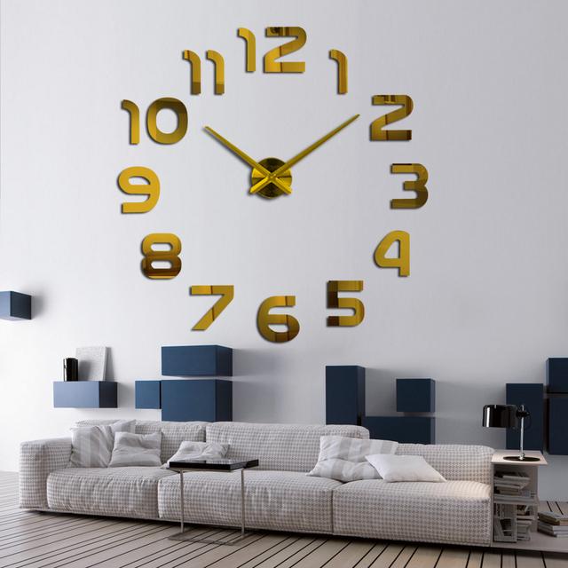 2017 Diy 3d Acrylic Wall Clock Clocks Watch Horloge Murale Modern Circular Needle Mirror Large Home Decoration Hot Free Shipping