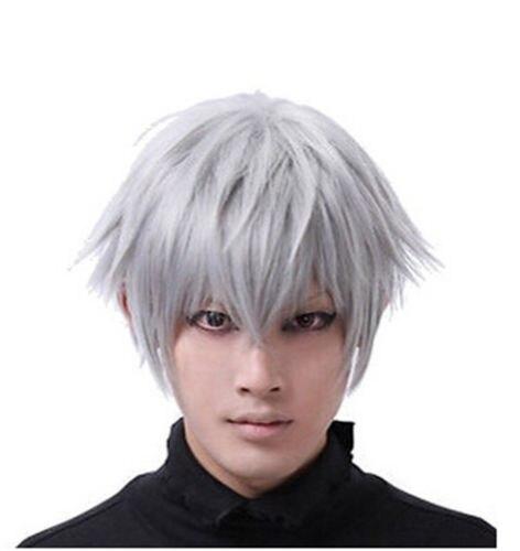 Song Wig 00358 Tokyo Ghoul Anime Ken Kaneki Cosplay Wig Silver White