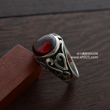 2016 Special Offer Time-limited Classic Rings Sapphire Jewelry Anillos 925 Sterling Ring Thai Carved With Garnet Vampire Man