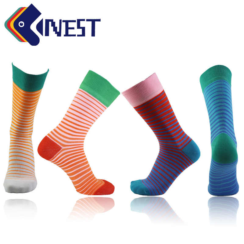 Nest 1 Pairs Colorful Terry Business Dress Socks Uni Sex Style