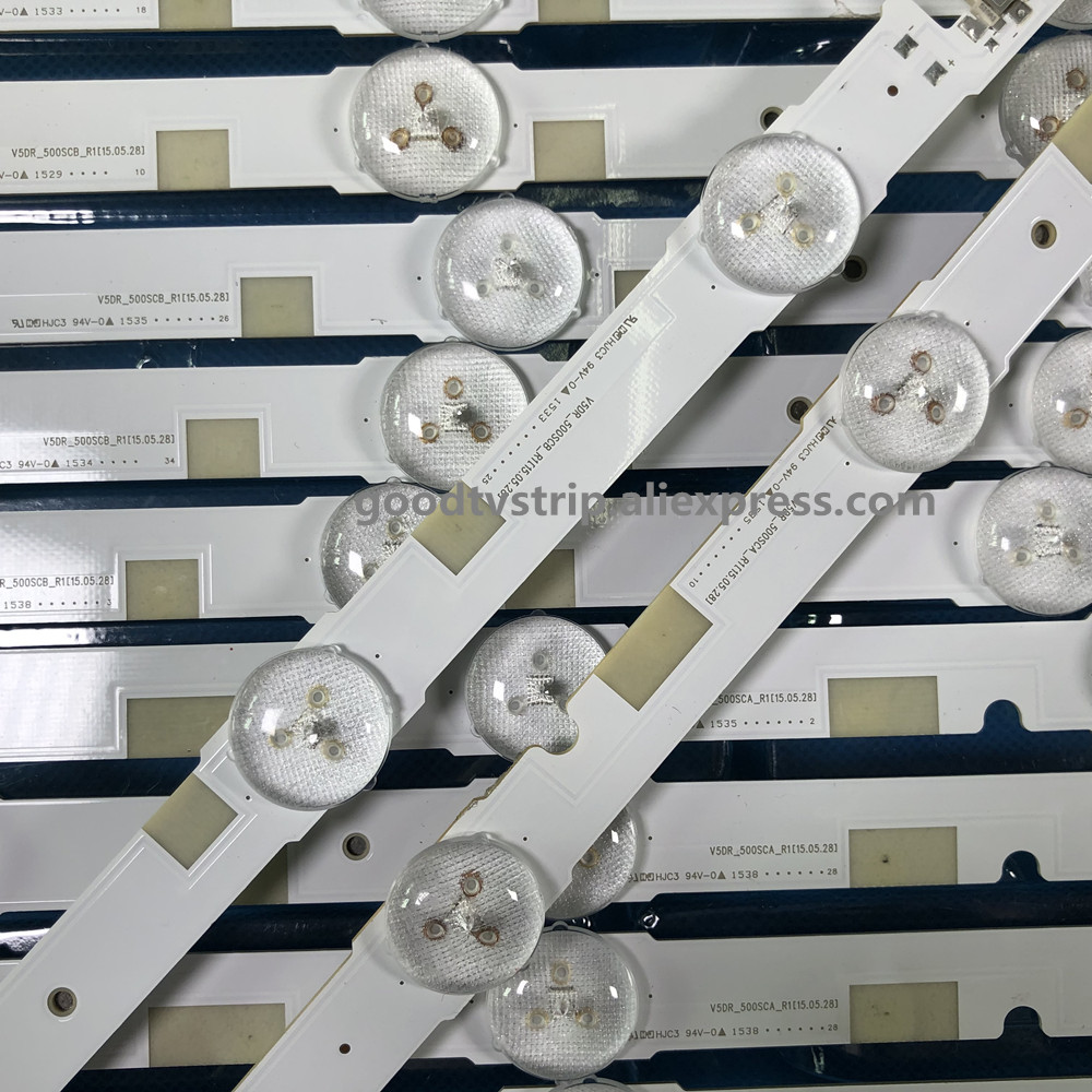 for sam sung LED Backlight Lamp strip UA50JS7200JXXZ V5DR 500SCA R1/V5DR 500SCB R1 LCD Monitor High light-in LED Bar Lights from Lights & Lighting    1