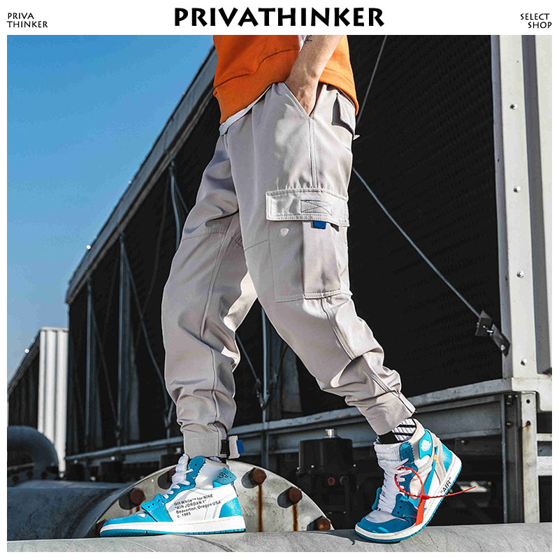 Privathinker Men Streetwear Cargo Pants Clothing 2019 Man Color Block Harem Pants Male Hip Hop Spring Joggers Pants Sweatpants-in Cargo Pants from Men's Clothing on AliExpress - 11.11_Double 11_Singles' Day 1