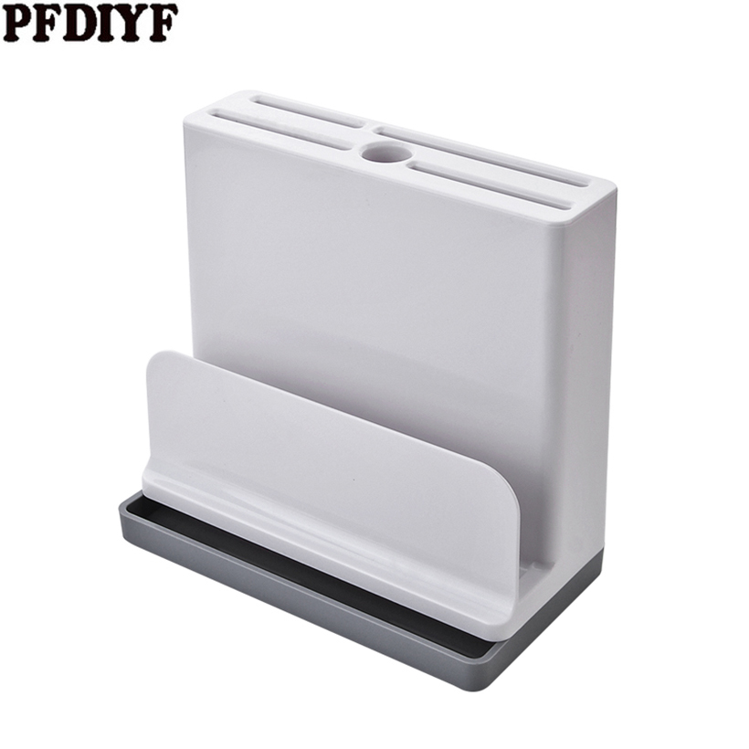 Creative Kitchen Knife Holder Multifunctional Plastic ABS Block Dividing Grid Cutlery Holder Stand For Knives Cutting Board