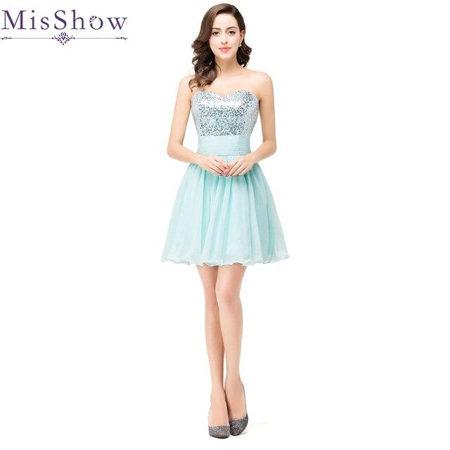 c0af39f18 2019 nuevo brillante lentejuelas Chiffon Vestido De fiesta corto De baile  Vestido De fiesta Curto vestidos