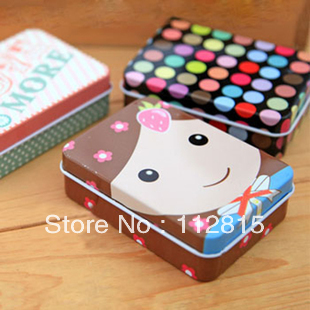 10pcs/lot  rectangle fantastic tiny iron box  storage jar  and container jewel case/box free shipping