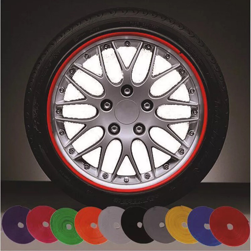8 m car wheel protection wheel sticker decorative strip rim / tire protection care cover drop boat car shape modification(China)