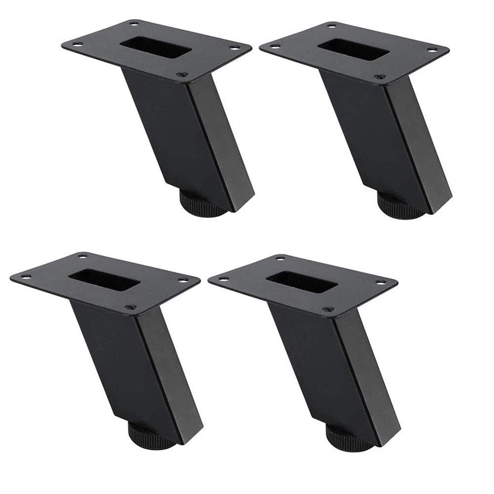 4pcs Thicken Furniture Legs Adjustable Metal Table Cabinets Feet Sofa Bed TV Cabinet Legs Inclined Square Tube Furniture Feet
