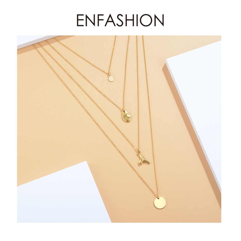 Enfashion wielowarstwowe cekiny Choker naszyjnik dla kobiet Holiday komunikat długie wisiorki z frędzlami Chain naszyjniki biżuteria PM193007