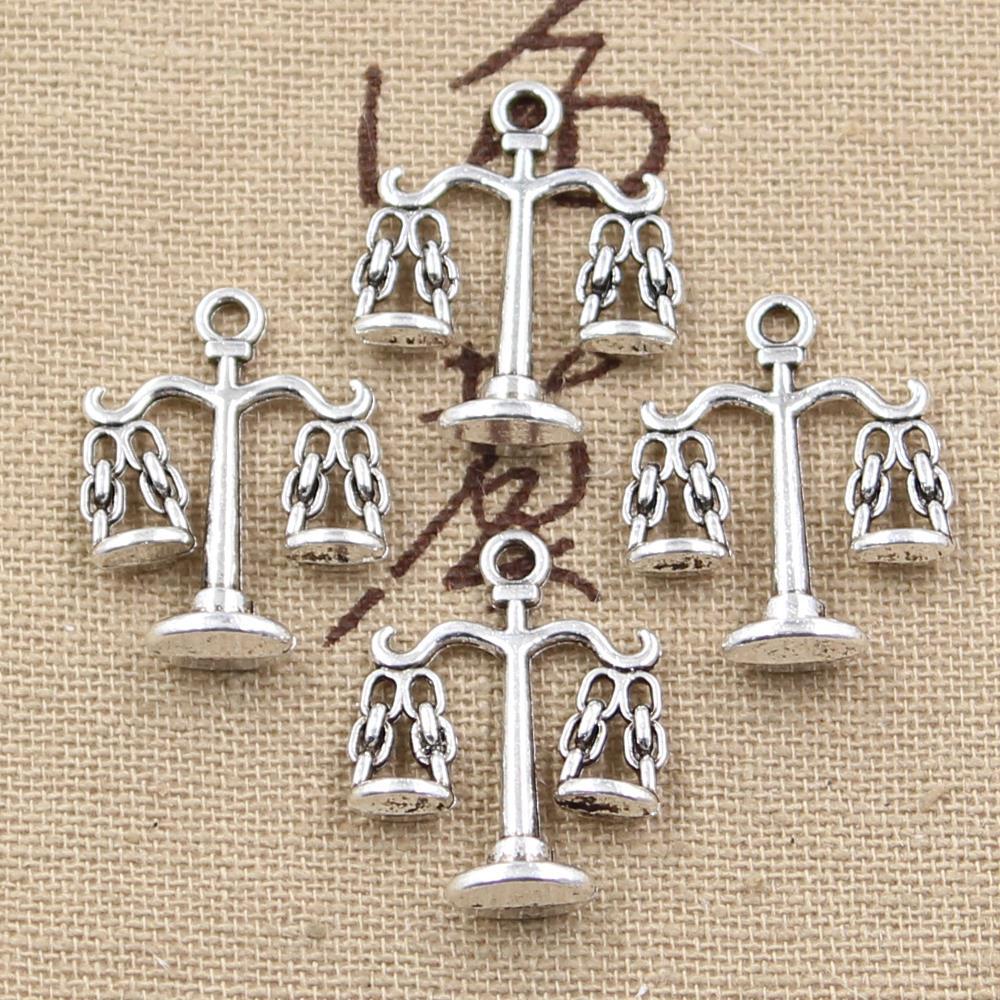 12 шт. Подвески весы правосудия 22*17 мм ручной кулон решений, винтаж тибетское серебро, DIY для браслета ожерелье ...