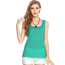 2019 Summer Womens Candy Color Shirt Chiffon Strap Bottoming Sleeveless Female Vest