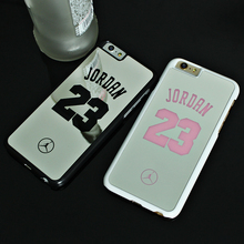 NBA brand Michael Jordan 23 fundas Cases For iPhone 6 6 puls 5 5s SE Hard Mirror Phone case Cover for iPhone Cover coque