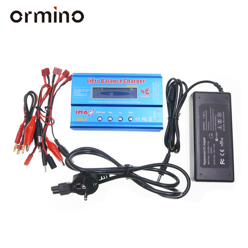 Ormino Charging Helicopter IMAX B6 Lipo Digital Balance Charger Drone Battery Charger Lipo RC Drone Acc Balance Charger original ev peak d1 rc lipo battery charging for yuneec typhoon q500 intelligent balance battery charger