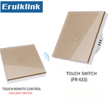 EU/UK Standard 1/2/3 Gang 1 Way Touch Switch,Gold Glass Panel Lamp Switch For RF433 Smart home Remote control light switch funryn eu st2 1 2 3 gang rf433 light switch smart home automation remote control touch panel switch via broadlink rm pro rm2