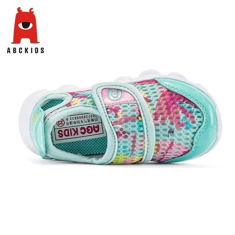 ABC เด็กสาวฤดูใบไม้ผลิ Breathable Anti-SLIP สัตว์พิมพ์ Casual เดินรองเท้ารองเท้าผ้าใบนุ่ม Soled