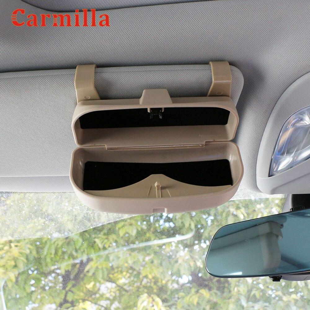 Carmilla Car Sun Glasses Holder Box Case for Mercedes Benz W212 C180 E63 C300 E250 C E CLASS GLK GLC GLE X204 W205 W203 W204