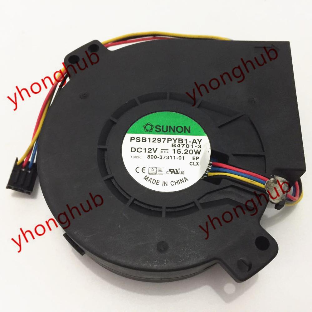 SUNON PSB1297PYB1 AY B4701 3 Server Cooler Fan DC 12V 16 2W 97x97x33mm 4 wire
