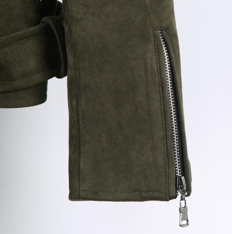 Короткая мужская куртка осень зима, новая модная армейская зеленая замшевая Повседневная куртка с отворотом, мужская верхняя одежда! S 3XL - 6