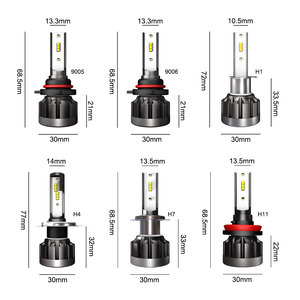 Image 5 - אוטומטי LED אור CSP H7 H1 H4 רכב פנס נורות H11 9005 9006 H8 H9 HB3 HB4 HB2 9003 12V 24V רכב אורות 60W 10000LM 6000K