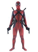 2018 Deadpool Wade Wilson Cosplay Costume Bodysuit Halloween Funny Adults Clothing with Unisex 3D Printed Headwear Mask Holster