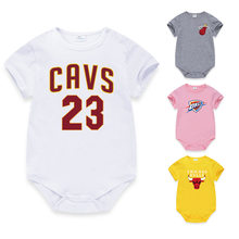 f0ec75ebd9f 2019 XINI MOMMY official store Basketball star Cotton newborn romper baby  clothes infant clothing sleepers pudcoco