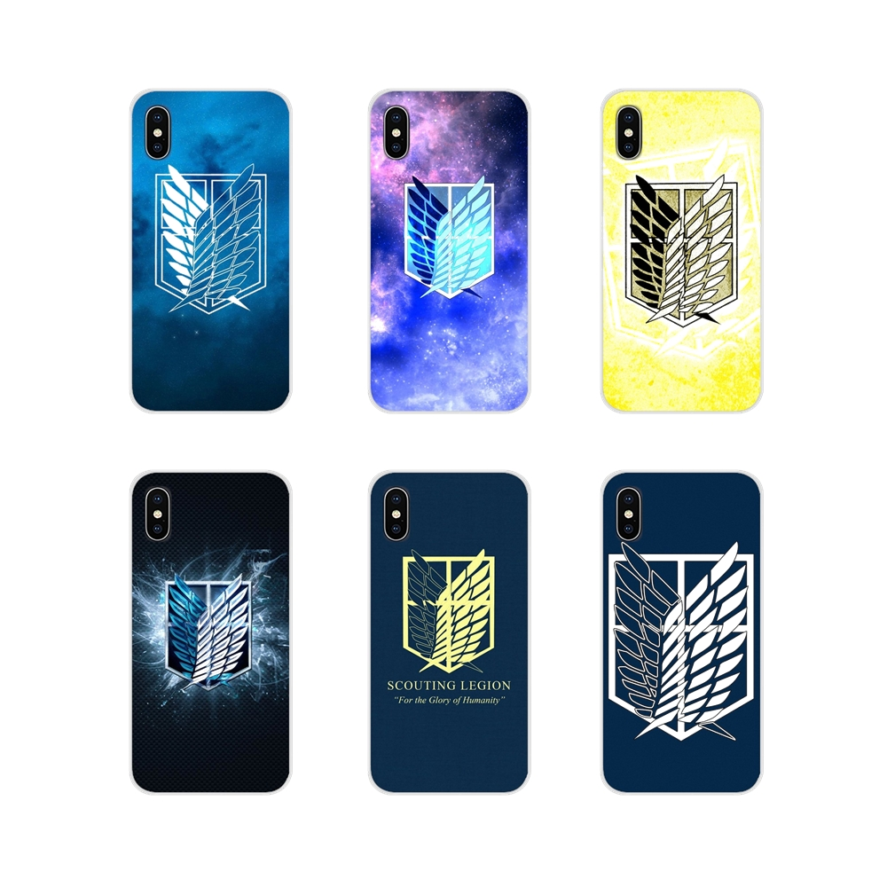 For Samsung Galaxy A5 A6S A7 A8 A9S Star J4 J6 J7 J8 Prime Plus 2018 Transparent TPU Shell Cover attack on titan Scouting Legion
