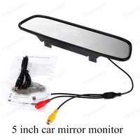 5 inch TFT digital 800x480 LCD car monitor small display for vehicle assistance reversing parking backup rear view camera