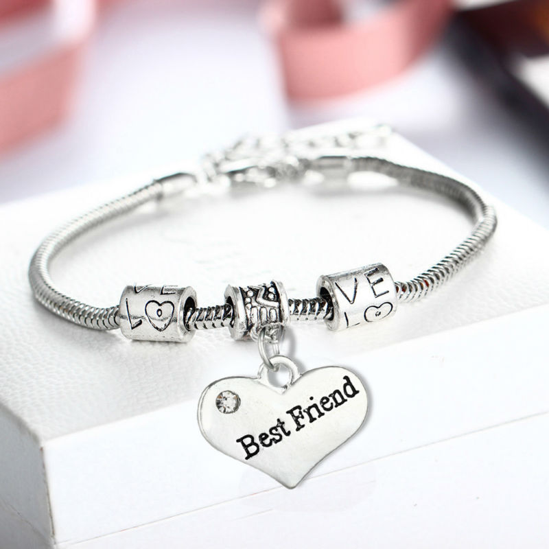 Best Friend Charm Bracelet: Aliexpress.com : Buy Love Heart Best Friend Bracelet