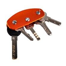 2017 Hot Selling Portable Outdoor EDC Gear Ultra Light Aluminum Key Holder Clamp Lightweight Clip Survival