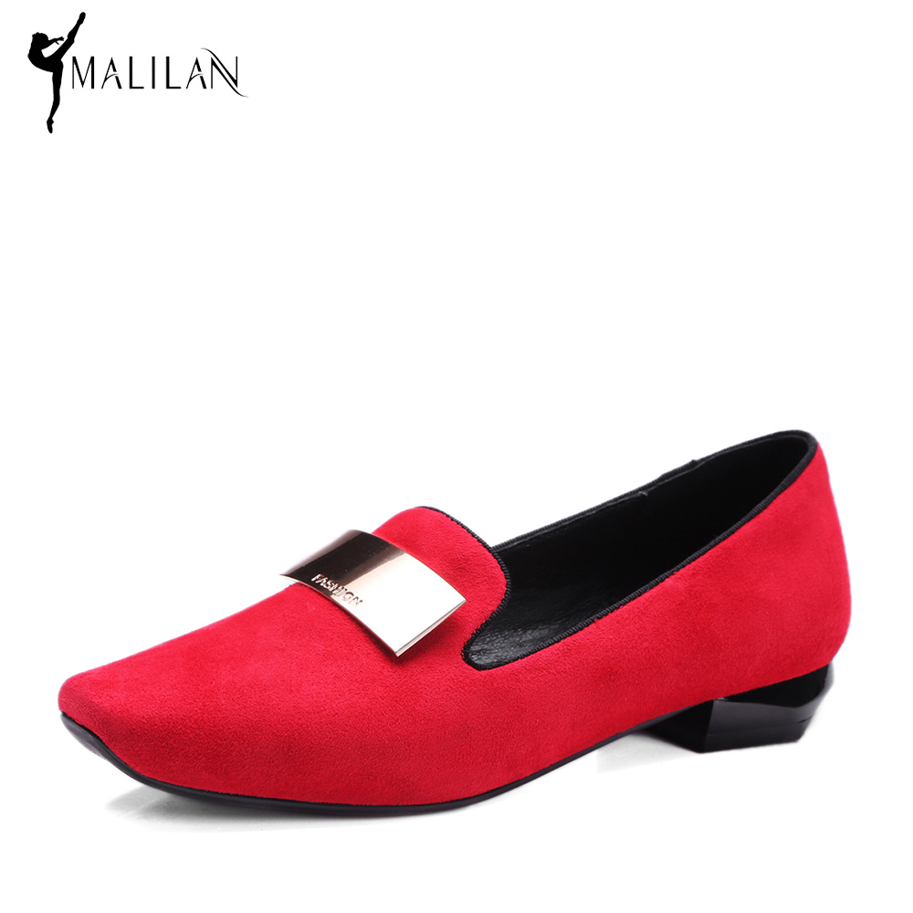 ФОТО MALILAN Sheepskin Genuine Leather Shoes Women Ballet Flats Fashion Boat Shoes Casual Chinese Shoes 2017 Spring Summer Loafers