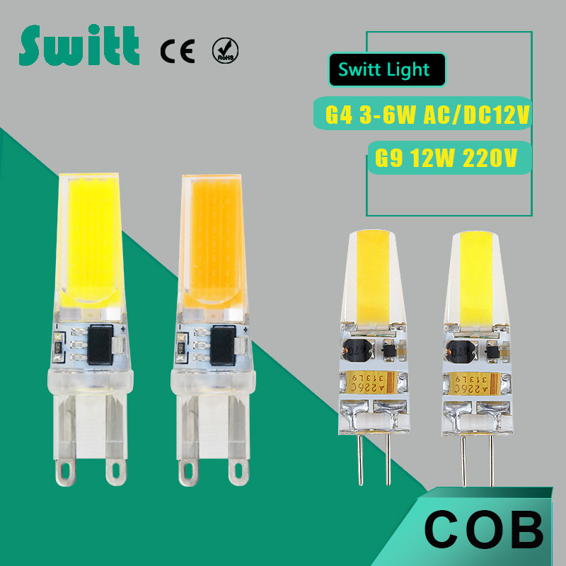 Dimmable LED G4 G9 Lamp Bulb COB SMD AC /DC 12V 3W 6W AC220V 12W LED Lighting Lights replace Halogen G4 for Spotlight Chandelier led g4 g9 lamp bulb ac dc dimming 12v 220v 6w 9w cob smd led lighting lights replace halogen spotlight chandelier